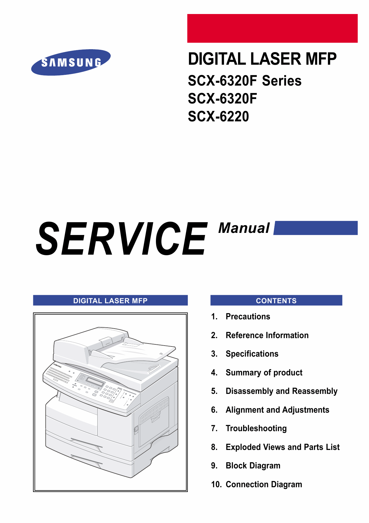 Samsung Digital-Laser-MFP SCX-6320F 6220 Parts and Service Manual-1